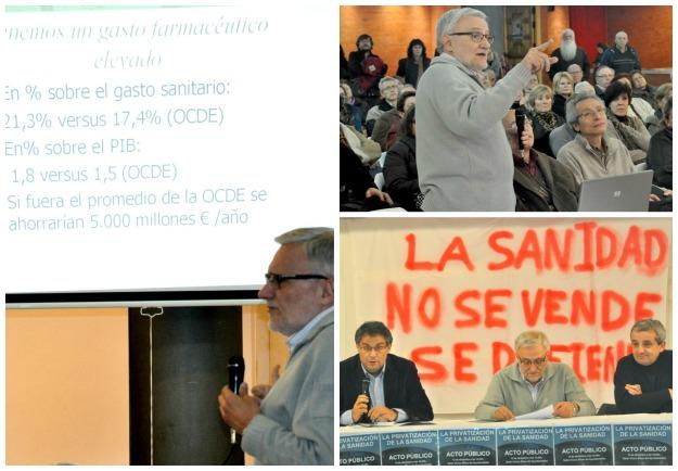 Sánchez Bayle en Villaviciosa de Odón, defendiendo la Sanidad Pública y explicando con datos los motivos de su venta.